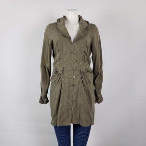 Jackets & Blazers - Neon Buddha Olive Green Cotton Jacket Size M